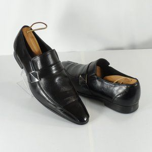 English Laundry Harold Black Leather Loafers 10